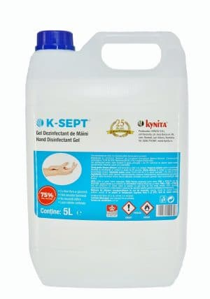 GEL dezinfectant de maini bidon 5 litri, 75% alcool, cu Aloe Vera si glicerina, avizat