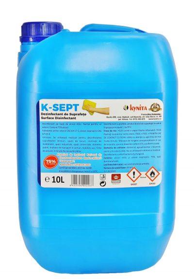 Dezinfectant de suprafete bidon 10 litri, alcool 75%