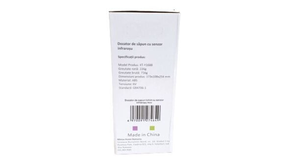Dozator automat, cu senzor infra-rosu, touch-less, pentru dezinfectant lichid