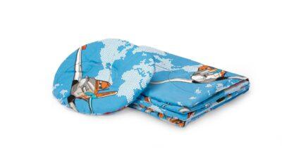 Set paturica + pernuta formarea capului bebelusului, model Aviator
