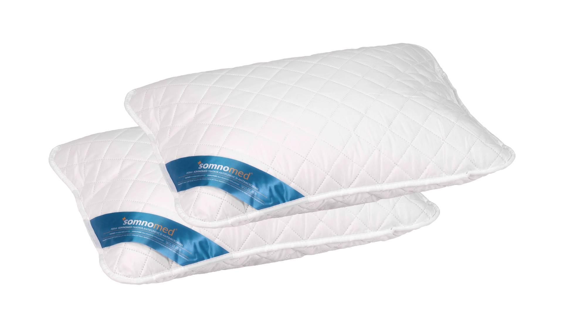 SET 2 Perne Somnomed Antimicrobiene si Antifungice lavabile la 95°C - 50 x 70 cm poza somnart.ro