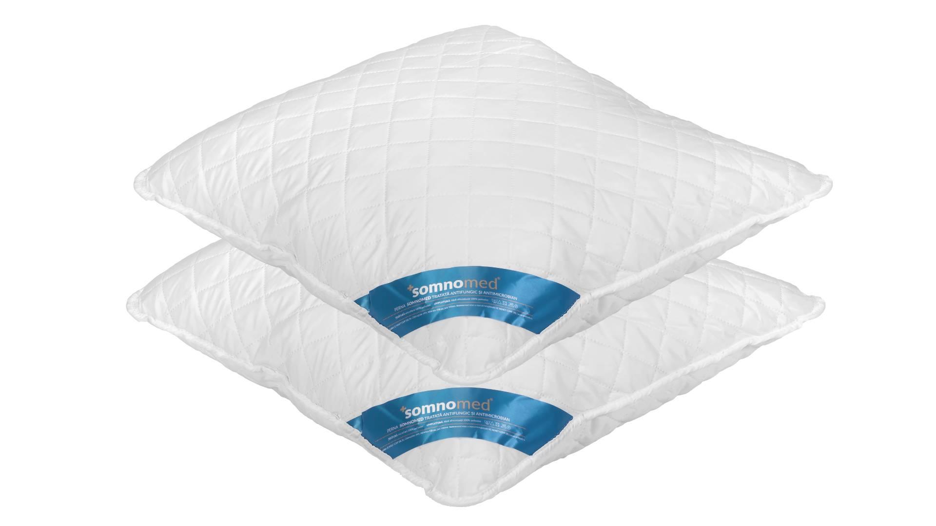 SET 2 Perne Somnomed Antimicrobiene si Antifungice lavabile la 95°C - 70 x 70 cm imagine 2021 somnart.ro