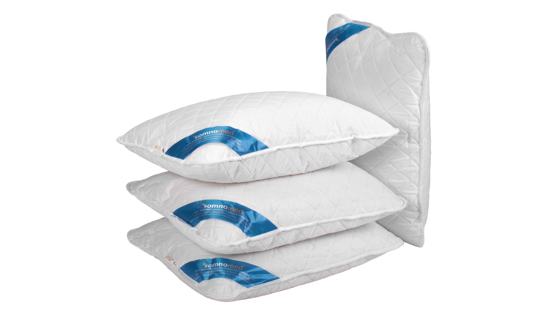 SET 4 Perne Somnomed Antimicrobiene si Antifungice lavabile la 95°C - 50 x 70 cm imagine 2021 somnart.ro