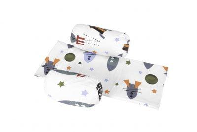 Suport de siguranta cu paturica impermeabila pentru bebelusi model Racheta