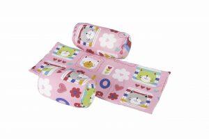 Suport de siguranta cu paturica impermeabila pentru bebelusi model Flori
