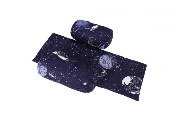 Suport de siguranta cu paturica impermeabila pentru bebelusi model Cosmos