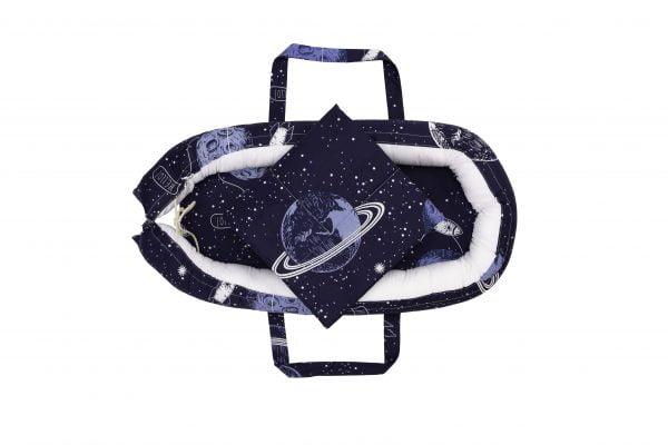 Baby Nest Somnart: Cosulet bebelusi + Salteluta 42x84x2 cm + Paturica 70×70 cm model Cosmos