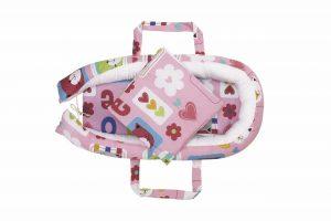 Baby Nest Somnart: Cosulet bebelusi + Salteluta 42x84x2 cm + Paturica 70×70 cm model Flori