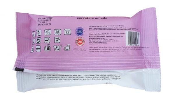 Servetele Umede Igienice Universale 15 buc Spring Line cu Aroma Florala