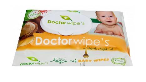Servetele Umede Bebelusi Doctor Wipe's 72 buc cu Capac Argan Oil