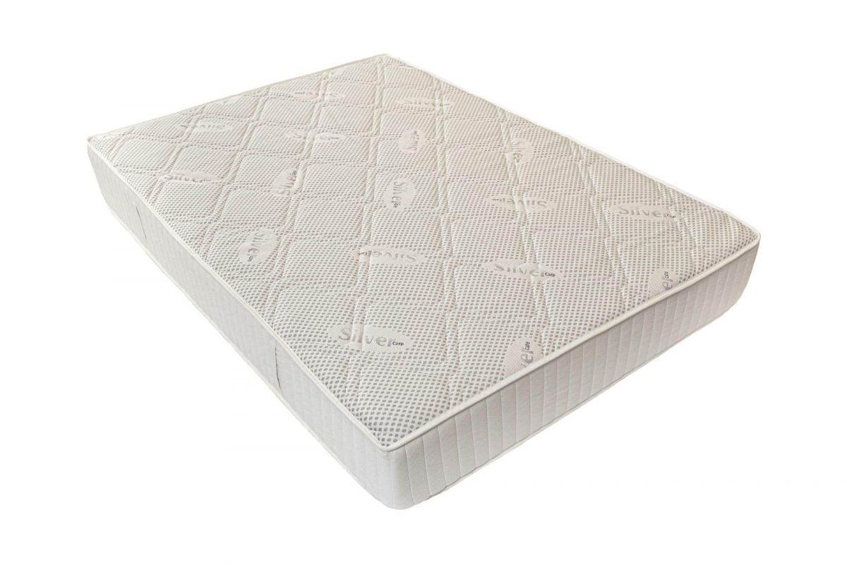 Saltea anatomica spuma poliuretanica cu memorie Somnart Silver Relax 140x200x24cm, 19+5, husa cu ioni de Argint lavabila si detasabila cu fermoar, manere, fermitate medie