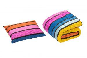 Set pilota 140×200 cm si perna 50×70 cm Colors Somnart, microfibra, 250 g, multicolor