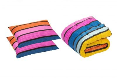 Set pilota 180×200 cm si 2 perne 50×70 cm Colors Somnart, microfibra, 250 g, multicolor