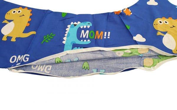 HUSA aditionala pentru Perna de gravide Mami bumbac model Dinozauri