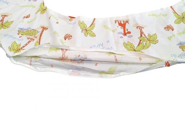 HUSA aditionala pentru Perna de gravide Mami bumbac model Jungle