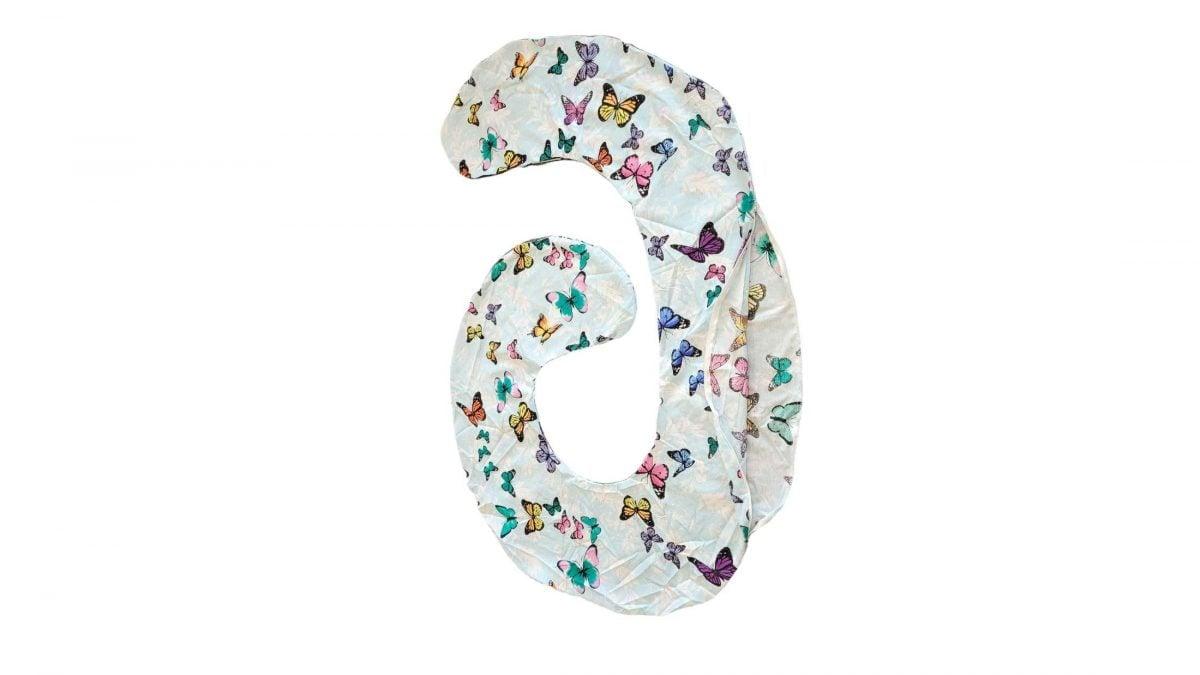 HUSA aditionala pentru Perna de gravide Mami bumbac model Fluturi