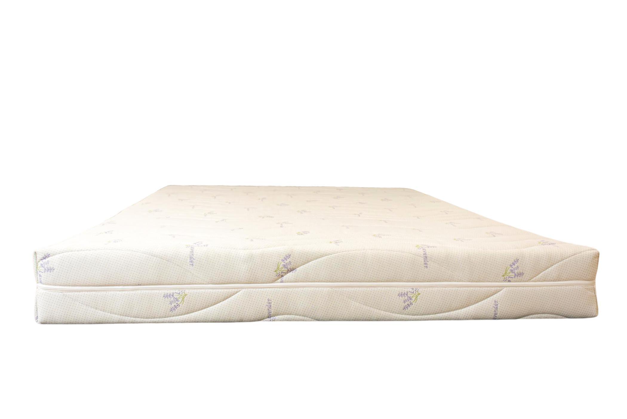 Saltea ortopedica Somnexpert Lavanda 90x200x16cm spuma poliuretanica cu memorie 14+2cm, husa tratata cu lavanda, lavabila si detasabila cu fermoar, fermitate medie poza somnart.ro