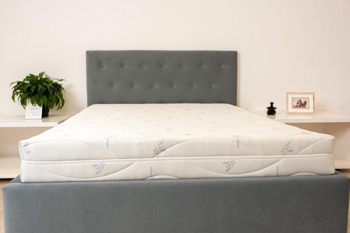 Saltea ortopedica Somnexpert Lavanda 160x200x16cm, cu memorie 14+2cm, husa tratata cu lavanda, lavabila, cu fermoar, fermitate medie