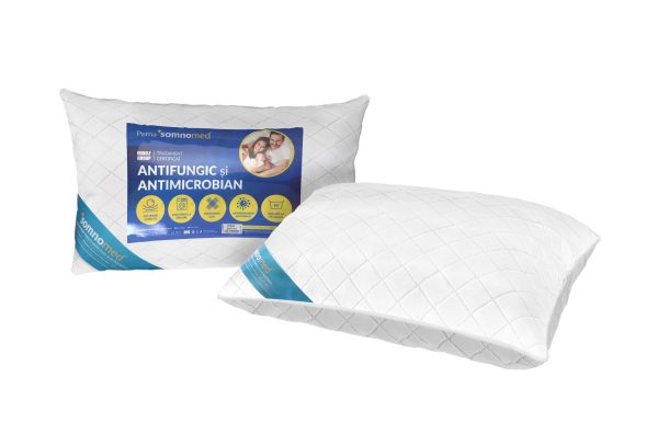 SET 2 Perne Somnomed Antimicrobiene si Antifungice lavabile la 95°C – 50 x 70 cm