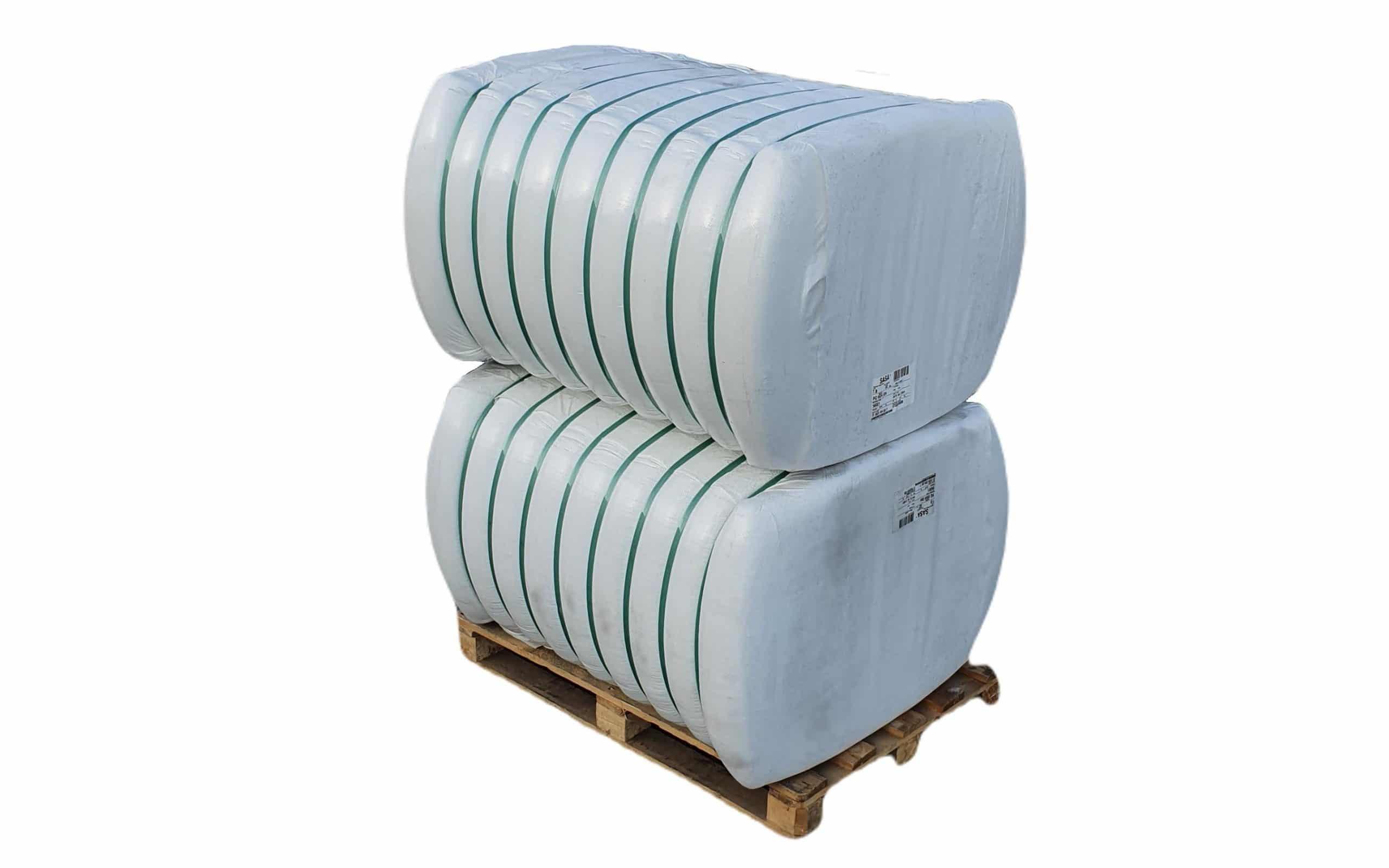 Fibra poliester hollow siliconizata conjugata, HCS 7D x 32 mm pentru fabricare umplutura perne si pilote, 2 x 250 Kg poza somnart.ro