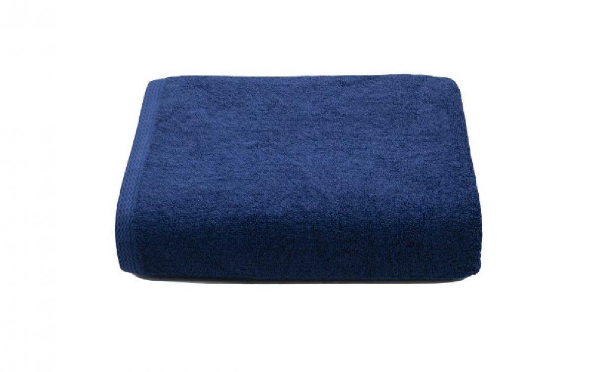 Set 2 prosoape de corp bumbac 100%, 600gsm, Somnart, 70x140cm, bleumarin
