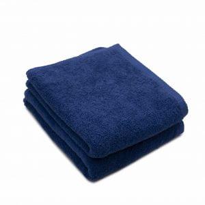 Set 2 prosoape de fata bumbac 100%, 600gsm, Somnart, 50x90cm, bleumarin