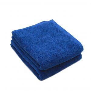 Set 2 prosoape de fata bumbac 100%, 600gsm, Somnart, 50x90cm, albastru