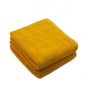 Set 2 prosoape de fata bumbac 100%, 600gsm, Somnart, 50x90cm, galben