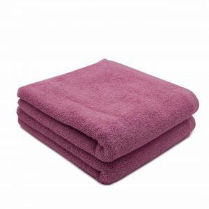 Set 2 prosoape de fata bumbac 100%, 600gsm, Somnart, 50x90cm, roz