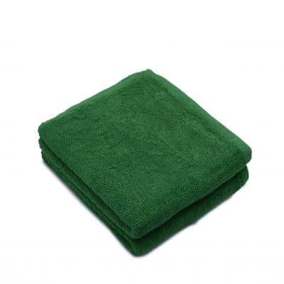 Set 2 prosoape de fata bumbac 100%, 600gsm, Somnart, 50x90cm, verde