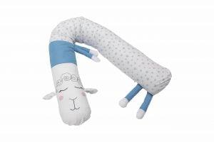 Protecție laterală pentru pătuț, Oiță, Albastru, 25×180 cm