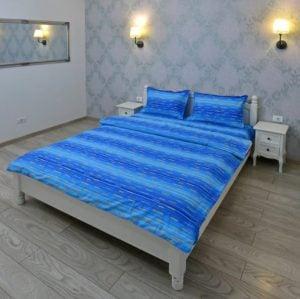 Lenjerie pentru 2 persoane Somnart, bumbac 100%, albastru