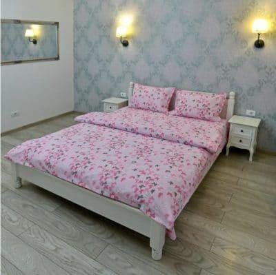 Lenjerie pentru o persoana Somnart, bumbac 100%, roz