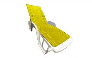 Saltea impermeabila pentru sezlong Somnart 60x190cm, doua segmente, interior vatelina, grosime 1cm, galben