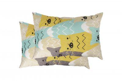 Set 2 perne Somnart Cat, 50×70 cm, microfibra