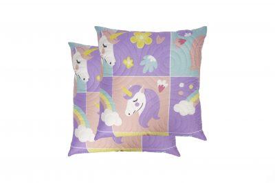 Set 2 perne Somnart Unicorn, 70×70 cm, microfibra