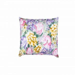 Perna SOMNART, 70×70 cm, umplutura pene 90%, puf 10%, bumbac 100%, model floral multicolor