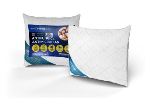SET 4 Perne Somnomed Antimicrobiene si Antifungice lavabile la 95°C – 70 x 70 cm
