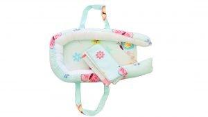 Baby Nest Somnart: Cosulet bebelusi + Salteluta 42x84x2 cm + Paturica 70×70 cm model Fluturi