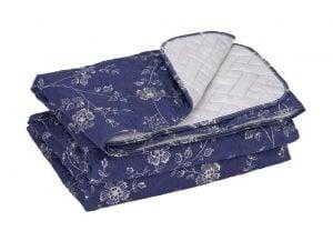 Cuvertura matlasata Somnart  Blue, 210×240 cm, microfibra