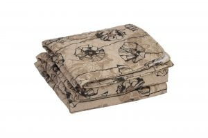 Cuvertura matlasata Somnart Brown, 210×240 cm, microfibra