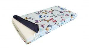 Saltea Pat 60×120 Somnart Memory cu husa protectie impermeabila pentru bebelusi si copii, Fluturi