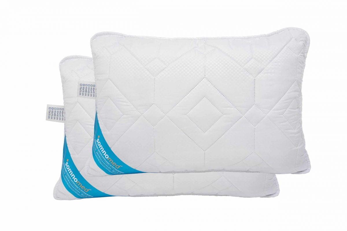 SET 2 Perne Somnomed Antimicrobiene si Antifungice lavabile la 95°C – 50 x 70 cm, vidat