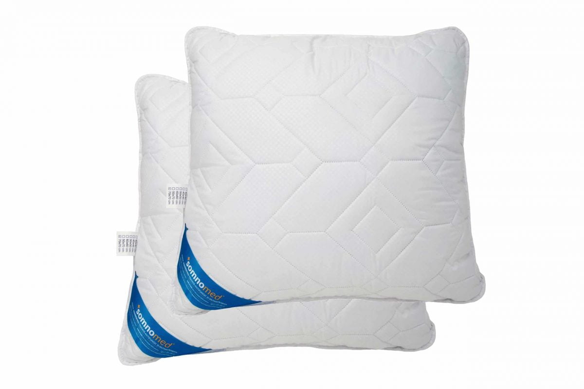 SET 2 Perne Somnomed Antimicrobiene si Antifungice lavabile la 95°C – 70 x 70 cm