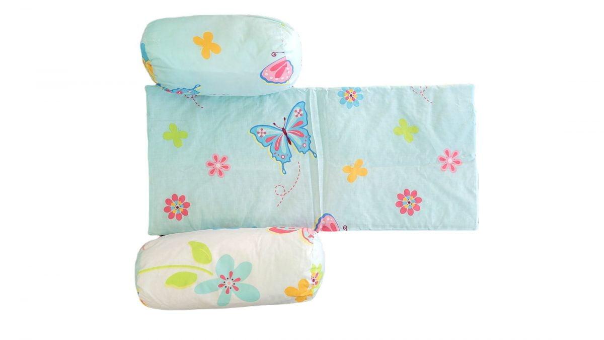 Suport de siguranta cu paturica impermeabila pentru bebelusi Somnart, model Fluturi