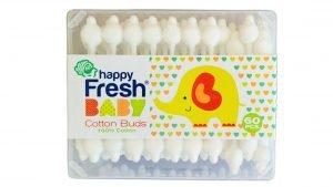 Betisoare de urechi pentru bebelusi si copii, happy Fresh Cotton Buds, cutie 60 buc
