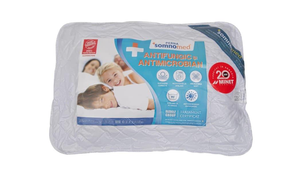 Perna Somnomed Antimicrobiană și Antifungică lavabilă la 95°C – 50 x 70 cm, vidata